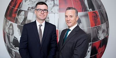 Stephen McCarthy, Head of Sales for Munster, and Mark O'Rourke, Managing Director at Bibby Financial Services Ireland