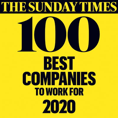 The Sunday Times 100 best companies logo